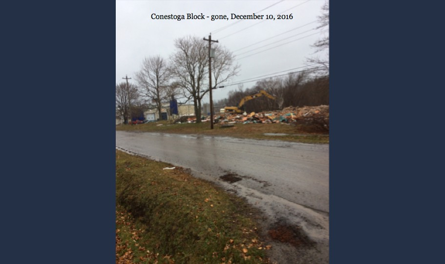 11-Conestoga Block Gone - 10 Dec 16